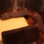 Schokolade im Schmelzbad