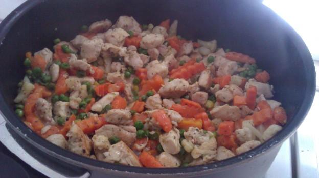 Einfach: Hühnchen mit Gemüse