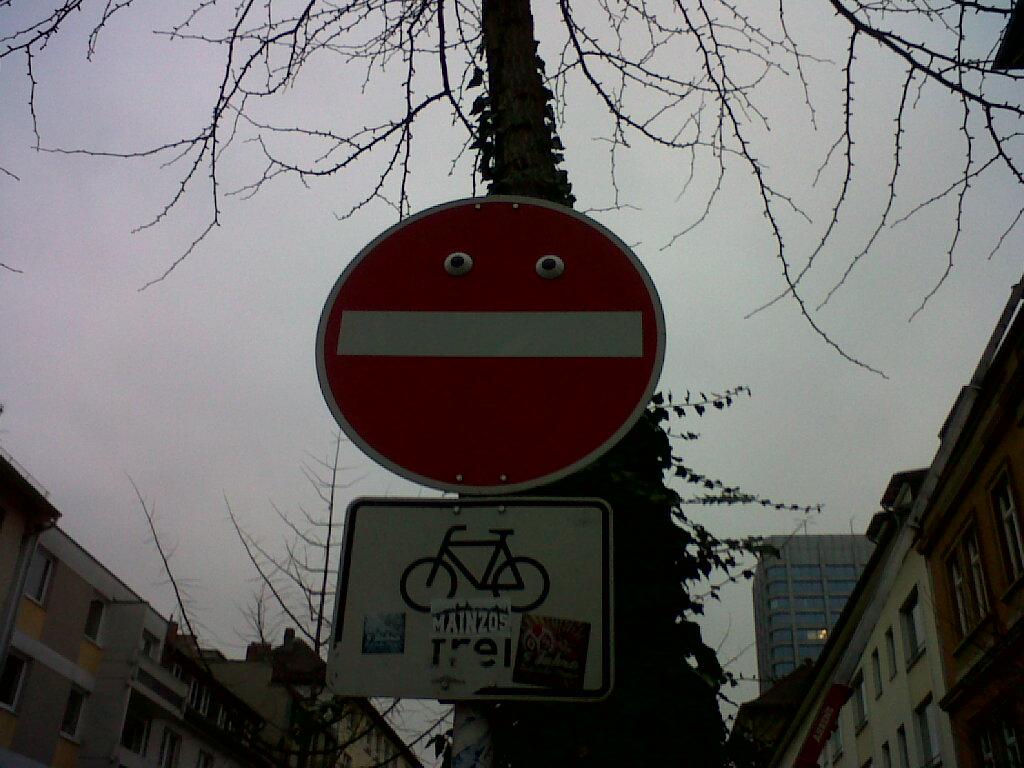 Einfahrt verboten