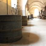 Weinfässer und Weinpressen im Kloster Eberbach