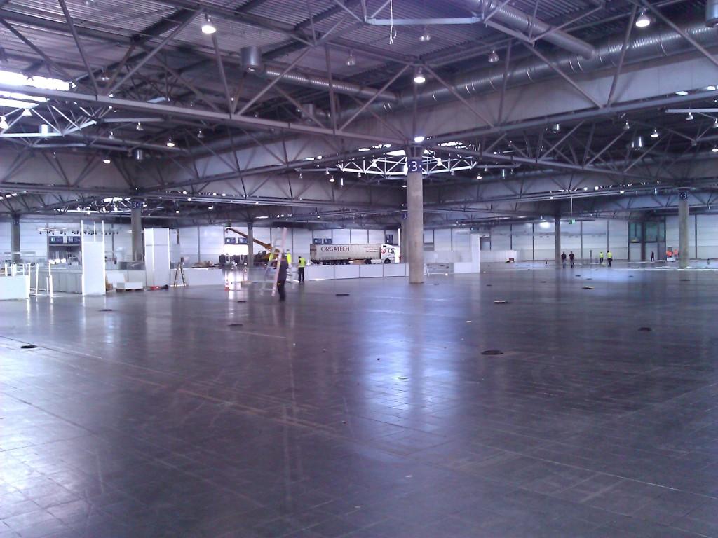 World Skills Leipzig - leere Messehalle