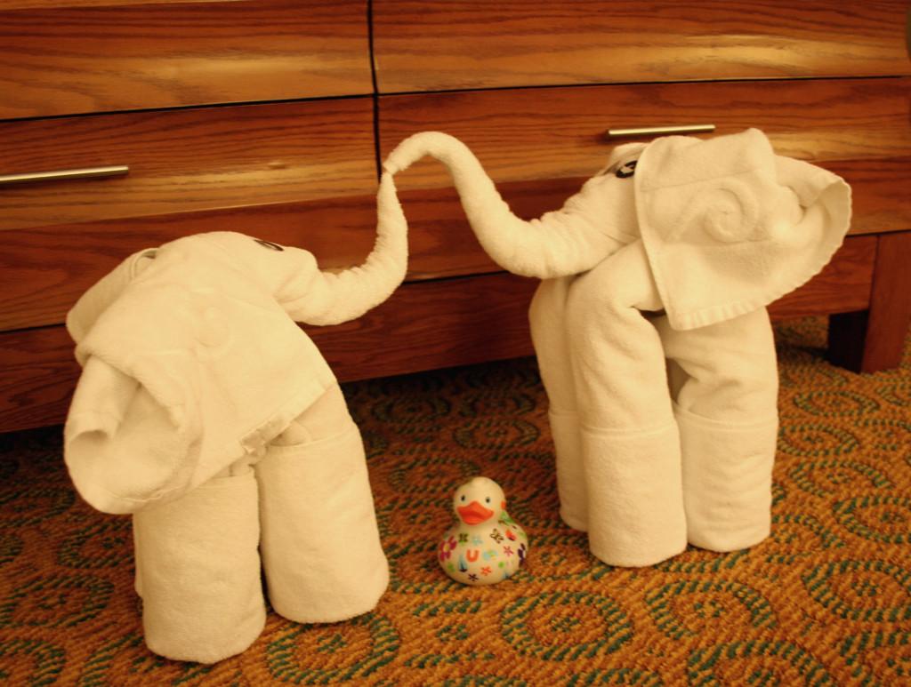 Ludmilla und die Handtuch-Elefanten