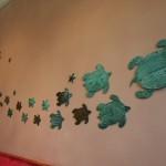 Diese Wanddeko findet man im West-Tower in einem Foyer. Das Thema 'Atlantis' und all seine Bewohner findet man im gesamten Hotel.