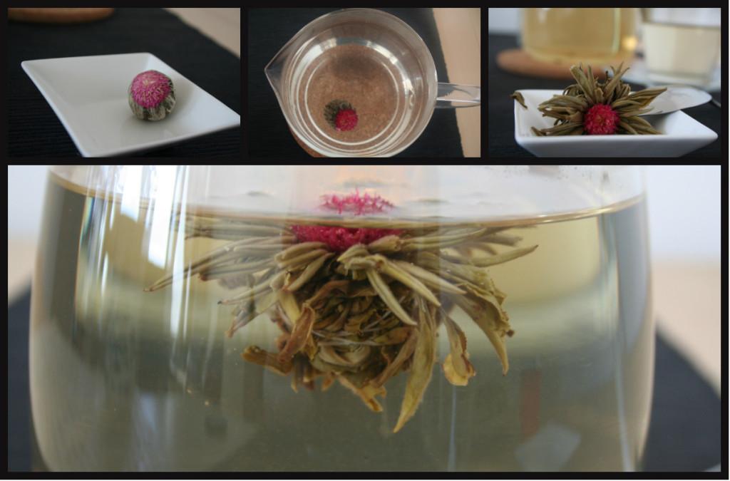 Grüner Tee als Teeblume