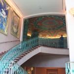 Die Treppen wurden großzügig gebaut - wie alles in dem Hotel.