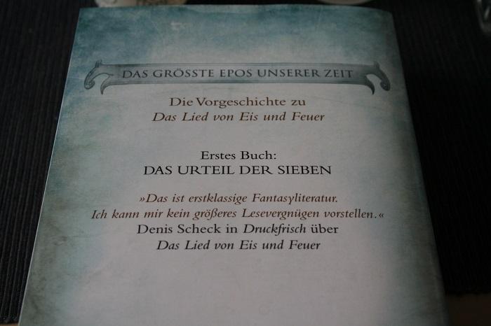 Der Heckenritter von Westeros - Buchrücken