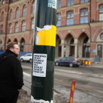 Stockholm - Sticker am Lampenmast