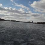 Stockholm - gefrorene Bucht