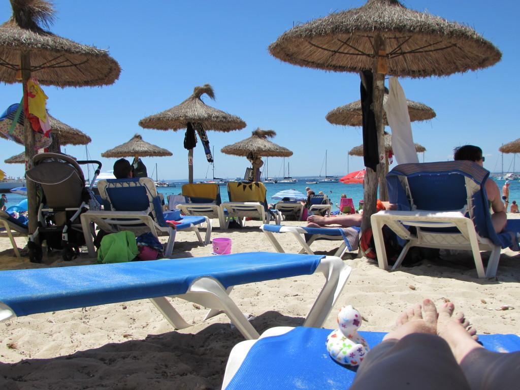 Am Strand von Es Trenc. Sandstrand war jetzt nicht so bombe an dem Abschnitt, aber das Meer war schön klar.