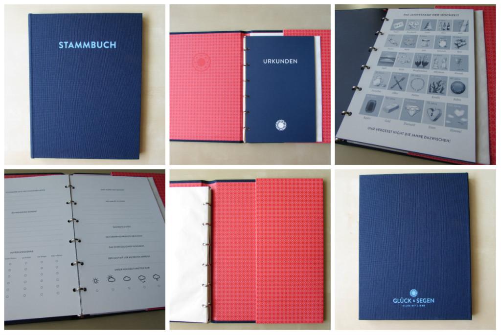 gl ck und segen stammbuch collage drei st dte. Black Bedroom Furniture Sets. Home Design Ideas