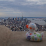 Ludmilla am frühen Abend auf dem Empire State Building
